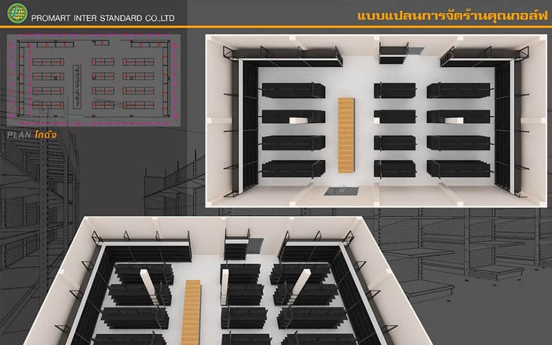 แผนผังร้านเพ็ทช็อป 3D