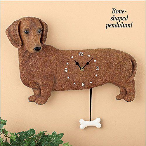 Dog clock decoration pet shop