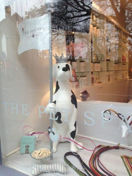 ภาพมาสคอตหมาตกแต่งร้านเพ็ทช็อป