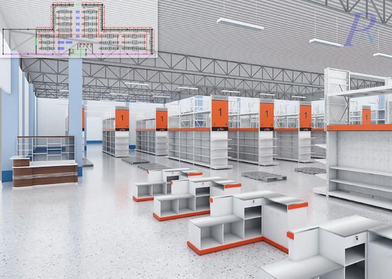 แบบร่างแผนผังร้านค้า 3D