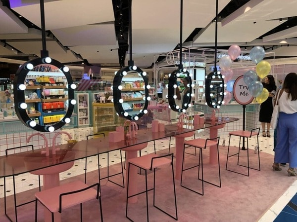 Beauty Playground cosmetic shop example modern trade