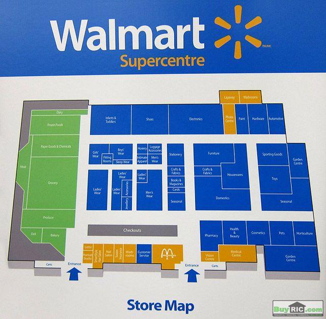 แผนผังร้านค้า walmart