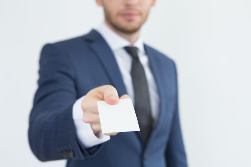 คนให้นามบัตร