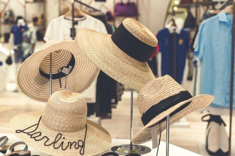 hat on shelf
