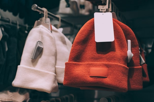 hats with label